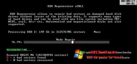 Captura de pantalla HDD Regenerator para Windows 10