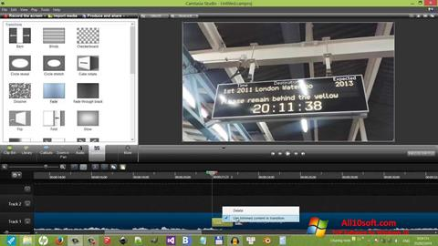 Captura de pantalla Camtasia Studio para Windows 10