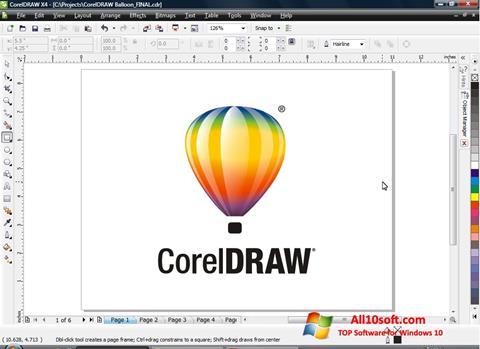 Captura de pantalla CorelDRAW para Windows 10