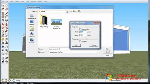 Captura de pantalla SketchUp para Windows 10