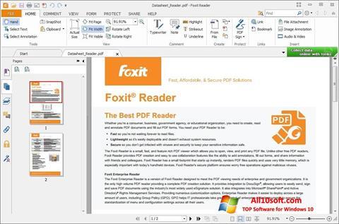 Captura de pantalla Foxit Reader para Windows 10