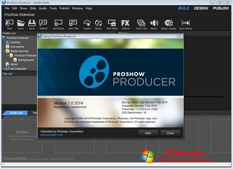 Captura de pantalla ProShow Producer para Windows 10