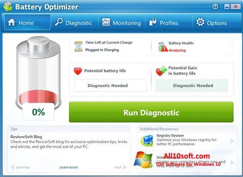 Captura de pantalla Battery Optimizer para Windows 10