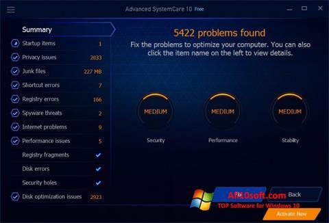 Captura de pantalla Advanced SystemCare Free para Windows 10