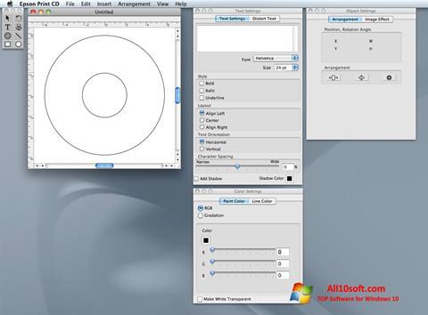 Captura de pantalla EPSON Print CD para Windows 10