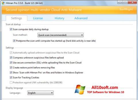 Captura de pantalla HitmanPro para Windows 10