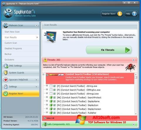 Captura de pantalla SpyHunter para Windows 10