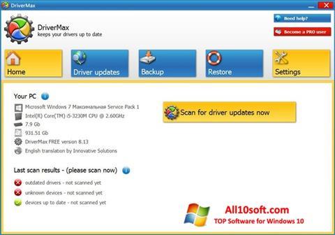 Captura de pantalla DriverMax para Windows 10