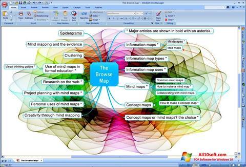 Captura de pantalla MindManager para Windows 10