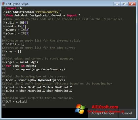 Captura de pantalla Python para Windows 10