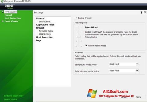 Captura de pantalla Outpost Firewall Free para Windows 10