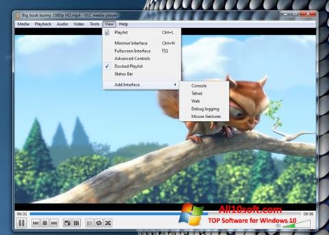 Captura de pantalla VLC Media Player para Windows 10