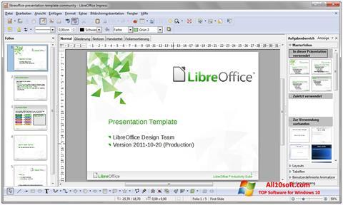 Captura de pantalla LibreOffice para Windows 10