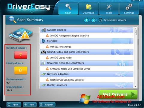 Captura de pantalla Driver Easy para Windows 10