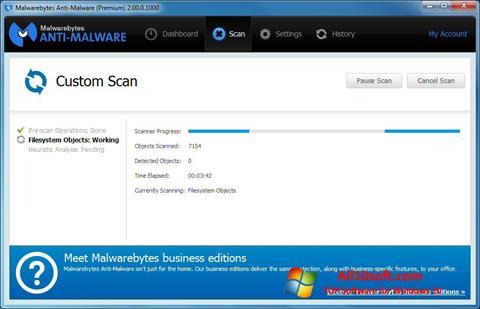 Captura de pantalla Malwarebytes Anti-Malware Free para Windows 10