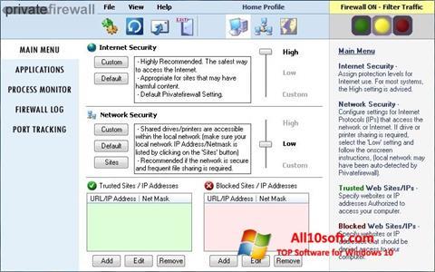 Captura de pantalla Privatefirewall para Windows 10