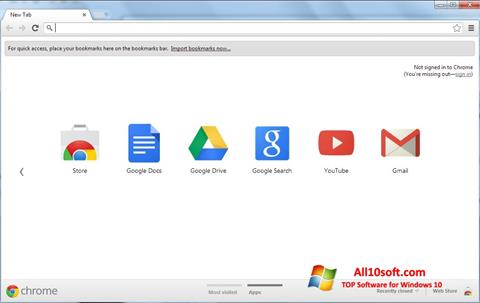 Captura de pantalla Google Chrome para Windows 10