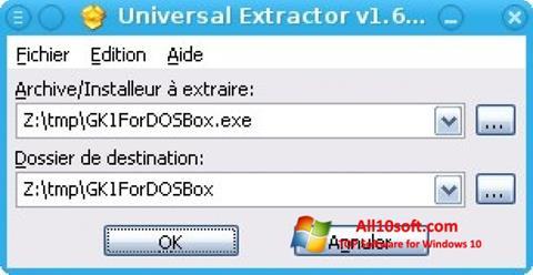 Captura de pantalla Universal Extractor para Windows 10