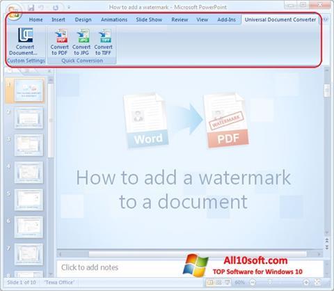 Captura de pantalla Microsoft PowerPoint para Windows 10