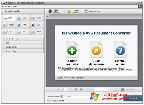 Captura de pantalla AVS Document Converter para Windows 10