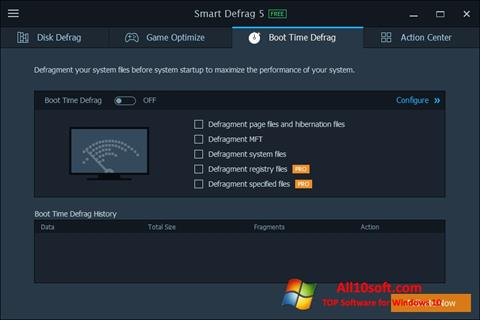 Captura de pantalla Smart Defrag para Windows 10