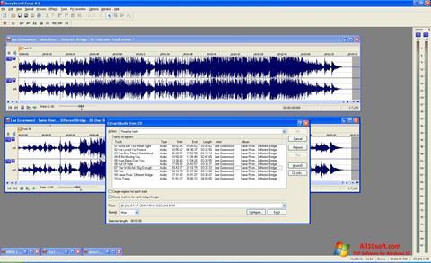 Captura de pantalla Sound Forge para Windows 10