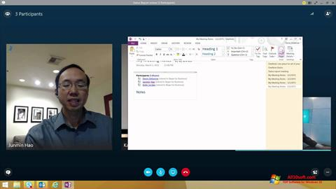 Captura de pantalla Skype for Business para Windows 10