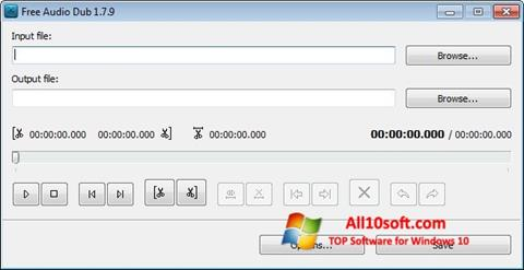 Captura de pantalla Free Audio Dub para Windows 10