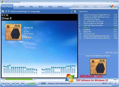 Captura de pantalla Media Player para Windows 10
