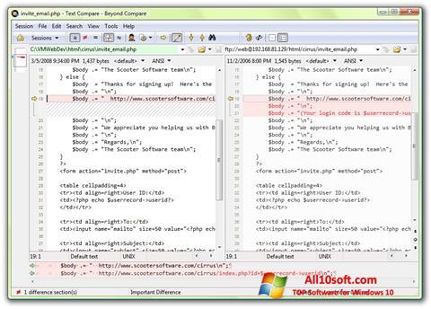 Captura de pantalla Beyond Compare para Windows 10