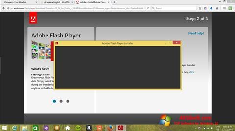 Captura de pantalla Adobe Flash Player para Windows 10