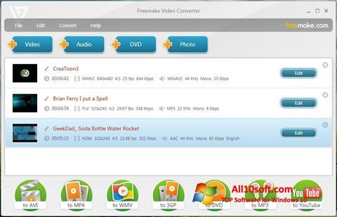 Captura de pantalla Freemake Video Converter para Windows 10