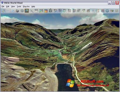 Captura de pantalla NASA World Wind para Windows 10