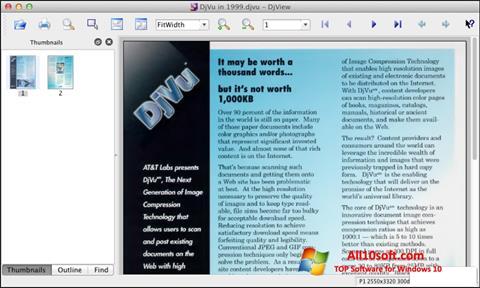 Captura de pantalla DjView para Windows 10
