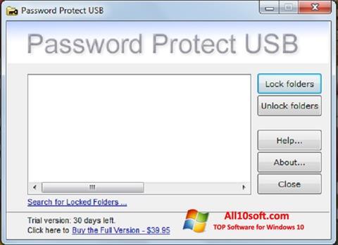 Captura de pantalla Password Protect USB para Windows 10